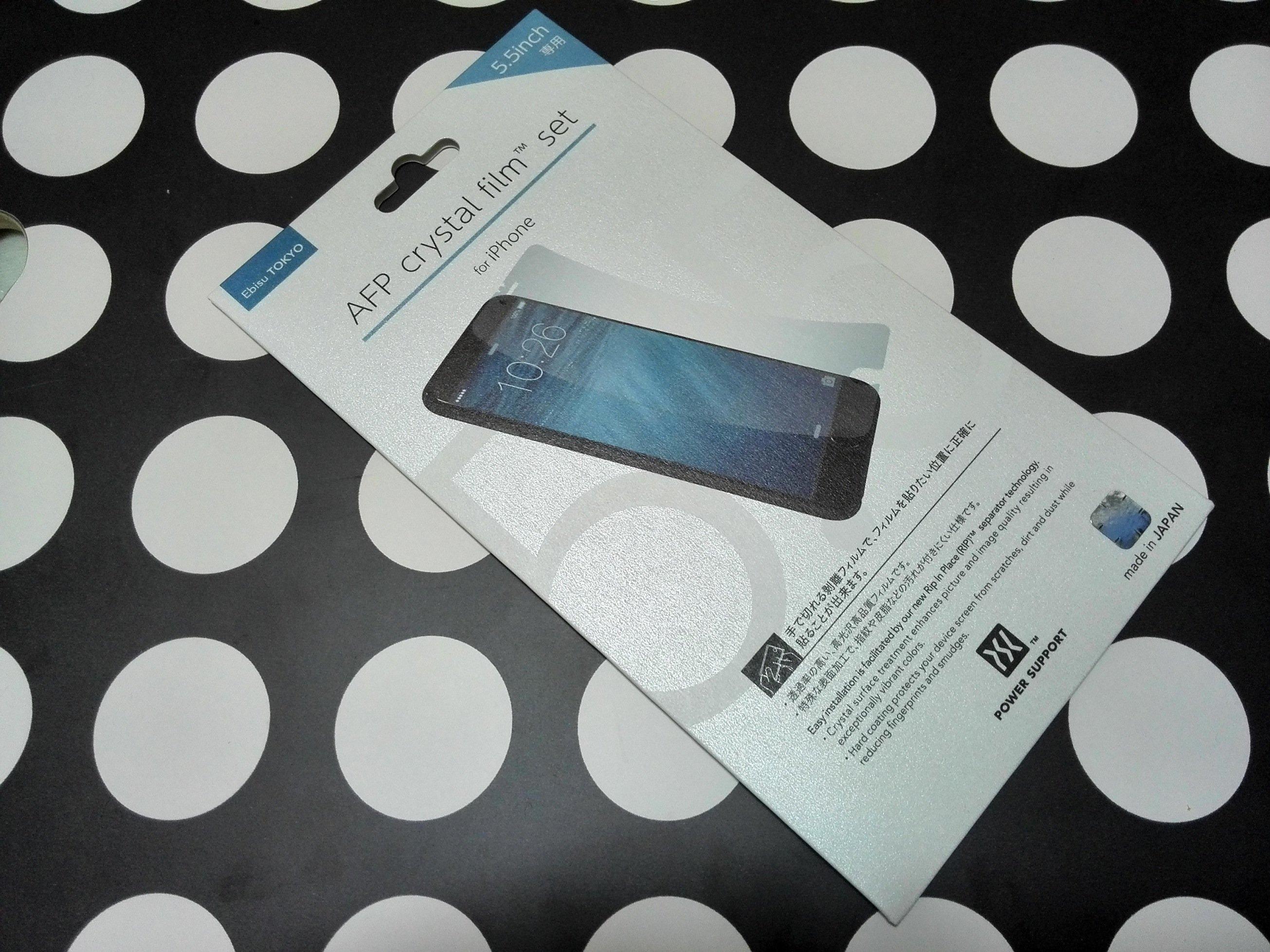 288e7e0d3d iPhone 6 Plusレビュー。液晶保護フィルムをパワーサポートAFPクリスタルフィルムセット for iPhone6 にアップデート。 |  しま☆りん.blog @ayurina